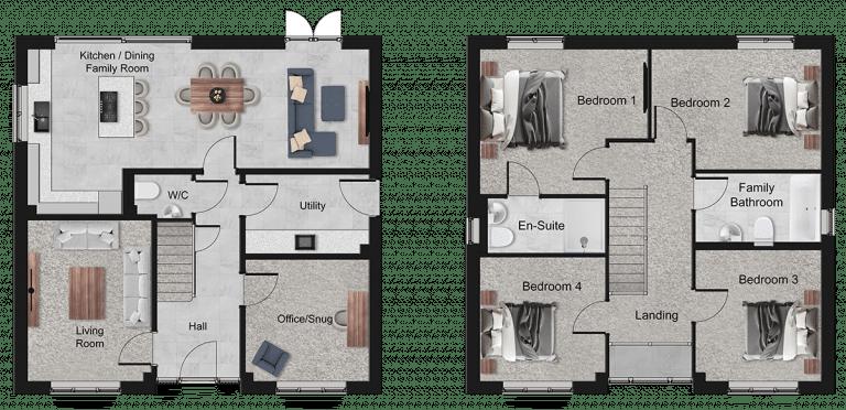 Claredale Floor Plan